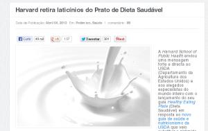 Harvard retira laticínios do Prato de Dieta Saudável – Portugal Mundial